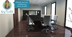 Visit Kay-Twelve.com to view our conference room planning guide. Use the checklist to plan out your conference room. Review the size chart for common table sizes. See example rooms we've come up with to get you started in the right path designing your conference room.