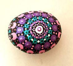 Mandala Rocks, Top View, Purple, Pink, Decorative Bowls, Dots, Green, Stitches, Pink Hair