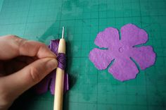 I searched forEVER to find the blog post that shows how to get the creasing detail in the handmade paper rose petals! LOL! This blog has it! She is a fabulous designer.