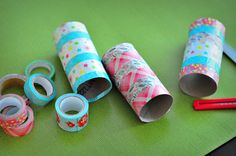 The Cheese Thief: Washi Tape Toilet Paper Rolls for Wrapping Paper Storage