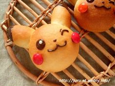 If there's one Pokemon that everybody loves, it has to be the electrically charged, super cute Pikachu. His bright yellow color makes him a great character to incorporate into your food dishes regu. Pokemon Party, Pokemon Birthday, Pokemon Snacks, Japanese Sweets, Japanese Food, Japanese Things, Pokemon Recipe, Bread Art, Pan Bread