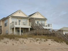 Surf City Vacation Rental - VRBO 391398 - 5 BR Topsail Island House in NC, Beautiful Beach House - 5 BR/4.5 Baths - Oceanfront!