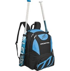 Made from durable 600D polyester with ripstop accents, the Worth® BKPK2 Bat Pack is both durable and functional, built with three separate compartments to help your gear stay protected and organized. The Worth® Softball Bat Pack features a media player pocket near the top handle, as well as an earphone cord hole to let you listen your pre-game music without the interference of annoying cords. Padded, curved shoulder straps add comfort.