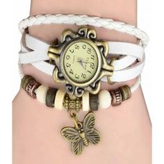 ad607376ffe FAP Vintage Analog Butterfly Design White Colour Womens Watch Rolex Watches