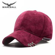 WAREBALL  nova moda gd anel pino de segurança curvo sólida unisex chapéus  casquette gorras f3c9274cfa4