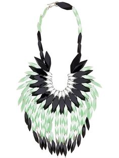 SILVIA ROSSI - PEACOCK FEATHERS NECKLACE