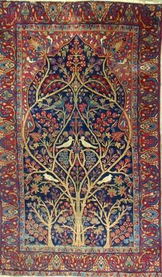 Persian Kerman prayer rug.