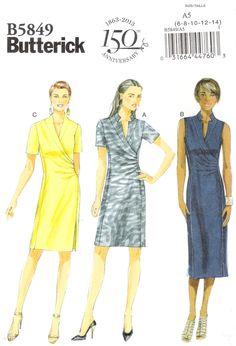 Butterick 5849 Misses' Dress Mccalls Patterns, Sewing Patterns, Size 14, Plus Size, Miss Dress, Skirts With Pockets, Princess Seam, Pattern Fashion, Short Dresses