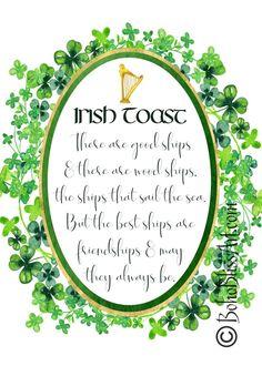Irish Blessing Quotes Free Printables for St. Patrick's Day Irish Jokes, Irish Humor, St Patricks Day Quotes, Happy St Patricks Day, Irish Toasts, Friendship Art, Irish Proverbs, Irish Blessing, Irish Prayer