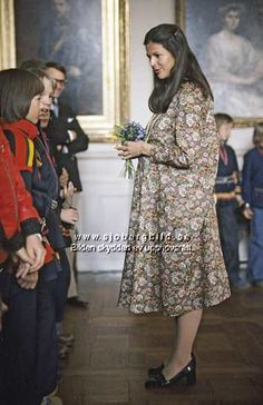 royaltyspeaking: Queen Silvia of Sweden when she was pregnant of Victoria.