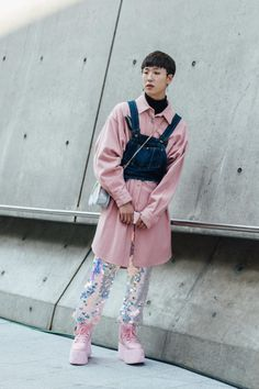 On the street at Seoul Fashion Week. Photo: Emily Malan/Fashionista