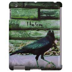 I Am Crow - Green iPad Case