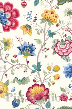 PiP Floral Fantasy| White Wallpaper | PiP Studio ©