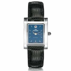 """Citadel Women's Swiss Watch - Blue Quad Watch with Leather Strap by M.LaHart & Co.. $229.00. Classic American style by M.LaHart. Swiss-made quartz movement with 7 jewels.. Officially licensed by The Citadel. Three-year warranty.. Attractive M.LaHart & Co. gift box.. The Citadel women's steel watch featuring Citadel seal at 12 o'clock and """"The Citadel"""" inscribed below on blue dial. Swiss-made quartz movement with 7 jewels. Blue dial with hand-applied, faceted m..."""