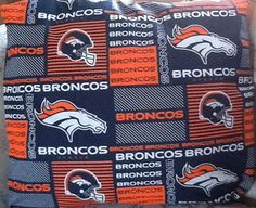 Throw pillows for man cave sofa Denver Broncos throw pillow back is solid blue by MawmaRosesCrafts, $15.00