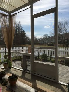 Outdoor Curtain Rods for Aluminum Screen Room