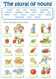 The plural of nouns Language: English Grade/level: Elementary School subject: English as a Second Language (ESL) Main content: The plural of nouns Other contents: plurals, regular and irregular plural of nouns English Grammar For Kids, Learning English For Kids, Teaching English Grammar, English Worksheets For Kids, English Lessons For Kids, Plurals Worksheets, Kindergarten Worksheets, Nouns Exercises, Irregular Plurals