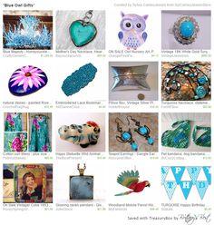*Blue Owl Gifts* by Sylvia CameoJewels http://etsy.me/1qQlNvC via @Etsy #etsyspecialT #integrityTT #etsymntt