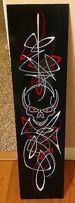 """Skull Pinstriping artwork panel - 6"""" x 24"""""""