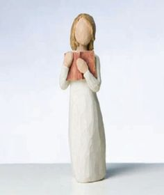 "$12.98-$14.00 Willow Tree Love of Learning Figurine, Susan Lordi 26165 - Willow Tree Love of Learning Figurine by Susan Lordi. 5.5"" high. Resin. Gift boxed. Standing girl with book. ""Open books, open minds""  Since 2000, Susan Lordi has been creating these figurative sculptures that speak in quiet ways of deep emotion and inspiration.  Artist Susan Lordi carves each original sculpture, then pieces ..."