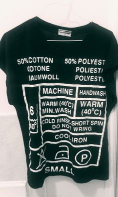 Washing Instructions T-shirt