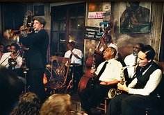 preservation hall. old jazz musicians.