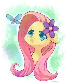 Fluttershy by LesFrites via Euphoria Pony ||| My Little Pony: Friendship is Magic, pegasus