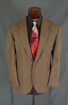 Vintage Brad Whitney Brown Tweed Western Rockabilly Cowboy Blazer - Size 50 #BradWhitney #Doyoureallyneedone
