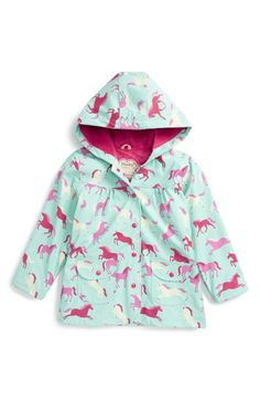 Hatley Ponies & Polka Dots Hooded Raincoat (Toddler Girls, Little Girls & Big Girls) available at #Nordstrom