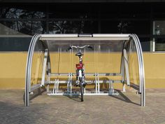 fahrradgarage transparent modell modern praktisch platzsparende ausf hrung fahrrad pinterest. Black Bedroom Furniture Sets. Home Design Ideas