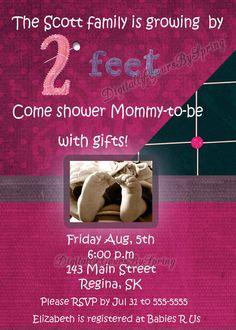 Printable Baby Shower Invitations, Digital Invitations, Baby Shower Printables, Rsvp, Cute Babies, Fonts, Facebook, Store, Colors