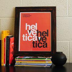 Helvetica print