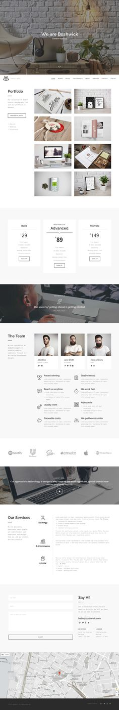 'Bushwick' is a slick One Page WordPress theme crafted for an online portfolio…