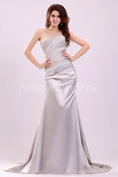 Form-fitting Dipped Neckline A-line Floor Length Silver Pageant Dresses Corset Back