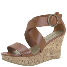 Wedge sandal...perfect for summer work outfits