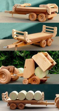 Teds Woodworking® - Woodworking Plans & Projects With Videos - Custom Carpentry Wooden Toy Trucks, Wooden Car, Woodworking Toys, Woodworking Projects, Wood Projects, Hobbies And Crafts, Diy And Crafts, Wood Toys Plans, Making Wooden Toys