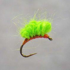 Materials List: Hook: Daiichi 1120 sizes 8-16 Thread: Fire Orange 8/0 or 6/0 Uni Thread depending on hook size Body: 100% Angora Rabbit Yarn