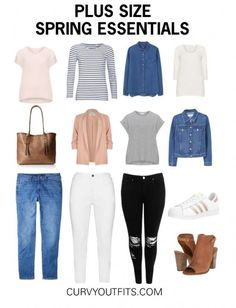 Today we are going to talk about a collection of plus size spring essentials every woman should have in her wardrobe. Those items come in mostly solid color #plussizesummeroutfits