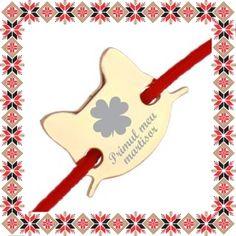 Martisor Bratara Inox Pisicuta Primul meu Martisor Christmas Ornaments, Holiday Decor, Christmas Jewelry, Christmas Decorations, Christmas Decor