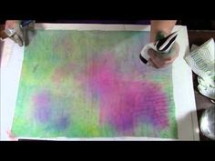 Fabric, Ink, and paint Background - YouTube