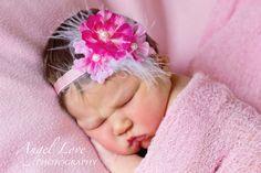 Baby Flower Headband  Newborn Headband by DarlingLittleAngels, $8.98