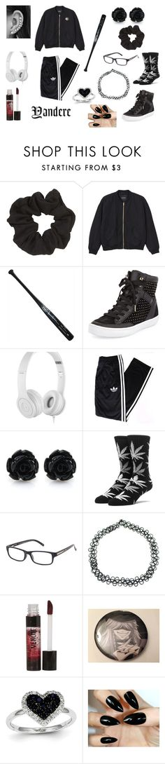 """Thuggish yandere"" by sakura1111 ❤ liked on Polyvore featuring Topshop, Monki, Steiner Sports, Rebecca Minkoff, Beats by Dr. Dre, adidas, HUF, Foster Grant, DuWop and Kevin Jewelers"