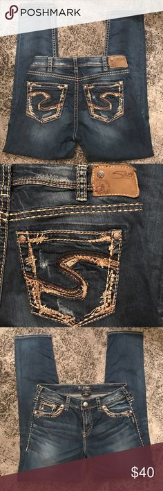 Silver skinny jeans Silver skinny jeans (suki high skinny).  Distressed.  Size w30/L29. Perfect condition. Silver Jeans Jeans Skinny