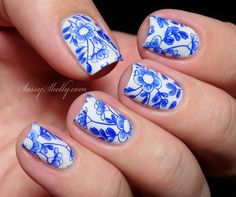 China Pattern Nail Art - leadlight stamping technique  |  Sassy Shelly