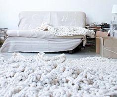 chunky aran rug