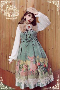 Starry Night -Snow Deers- Sweet Lolita Jumper Dress