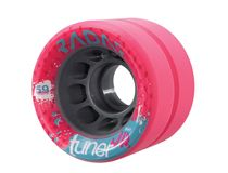 Radar Tuner Jr.  Size: 43mm x 59mm Hub: Grey Nylon    Hardness: Black 91A, Red 92A, Blue 93A, Pink 94A  $69.95 Skate Wheels, Jr, Pink, Blue, Pink Hair, Roses
