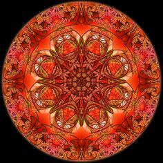 Mandala 4 Digital Colored Kaleidoscope - RuthArt by RuthArt, via Flickr