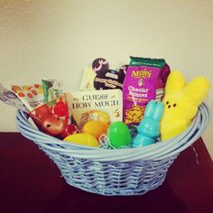 Baby toddler easter basket ideas basket ideas easter baskets an inexpensive health conscious easter basket for a 1 year old negle Images