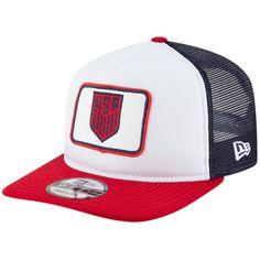 326567c77e9 Men s USMNT New Era White Red Team Pride Trucker Adjustable Hat